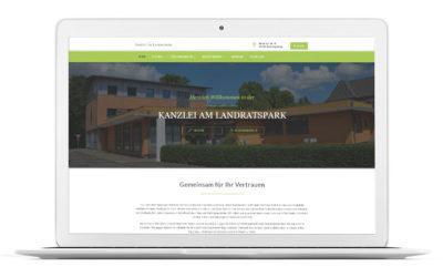 Ihre Kanzlei am Landratspark hat eine neue Website!